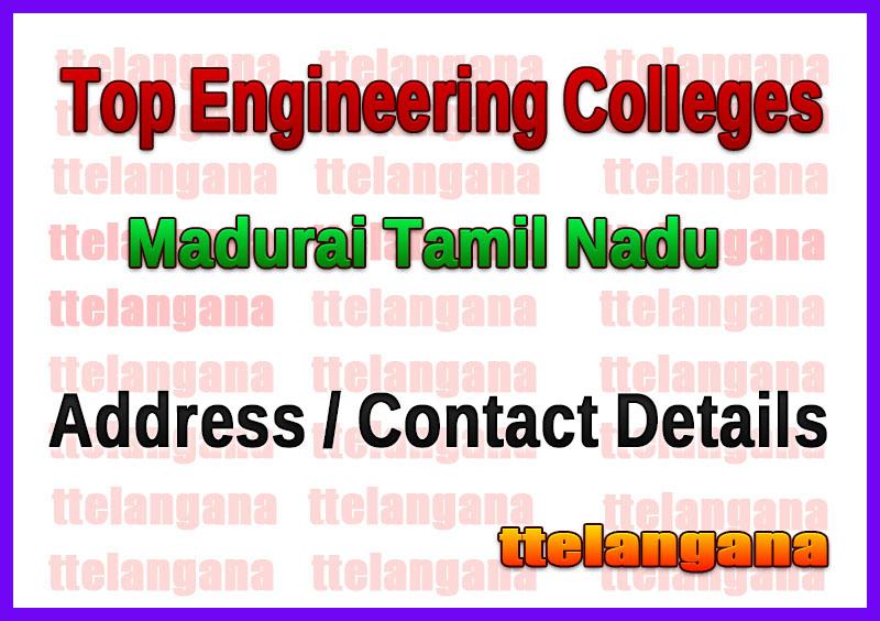 Top Engineering Colleges in Madurai Tamil Nadu