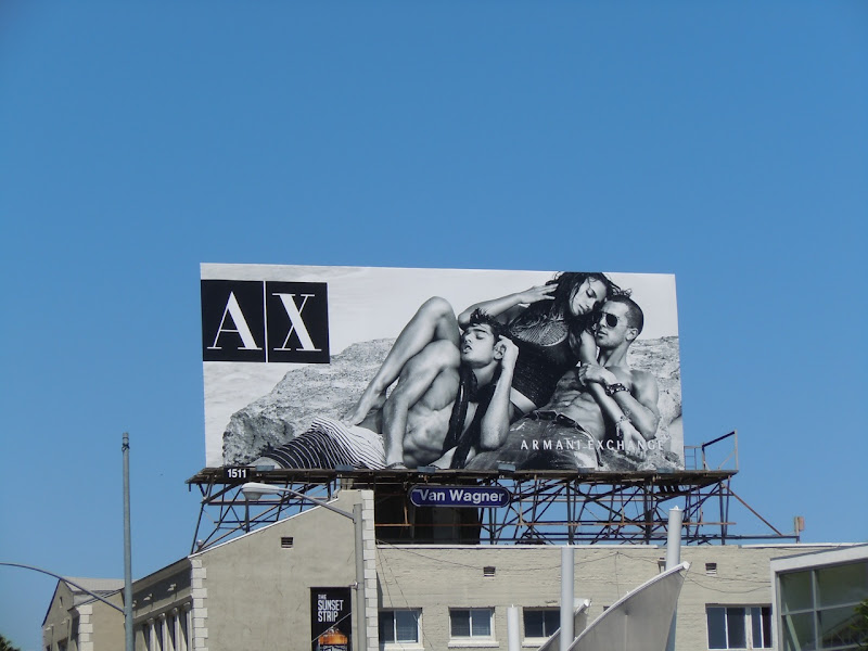 AX beachwear billboard