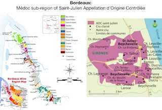 The Saint-Julien is a town small AOC for red wine production inside the Haut-Médoc which is part of the great Médoc region of Bordeaux