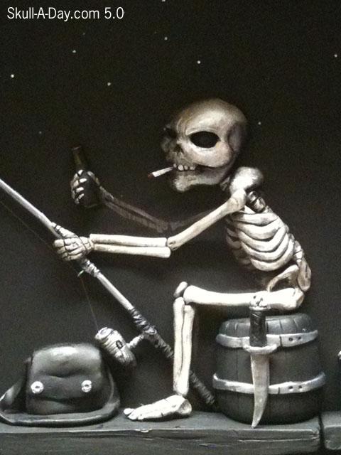 Fishing Skeleton