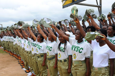 NYSC members 600x398 - Sokoto NYSC Member Saanu Daniel Segun Passes on Hours to the End of his Service