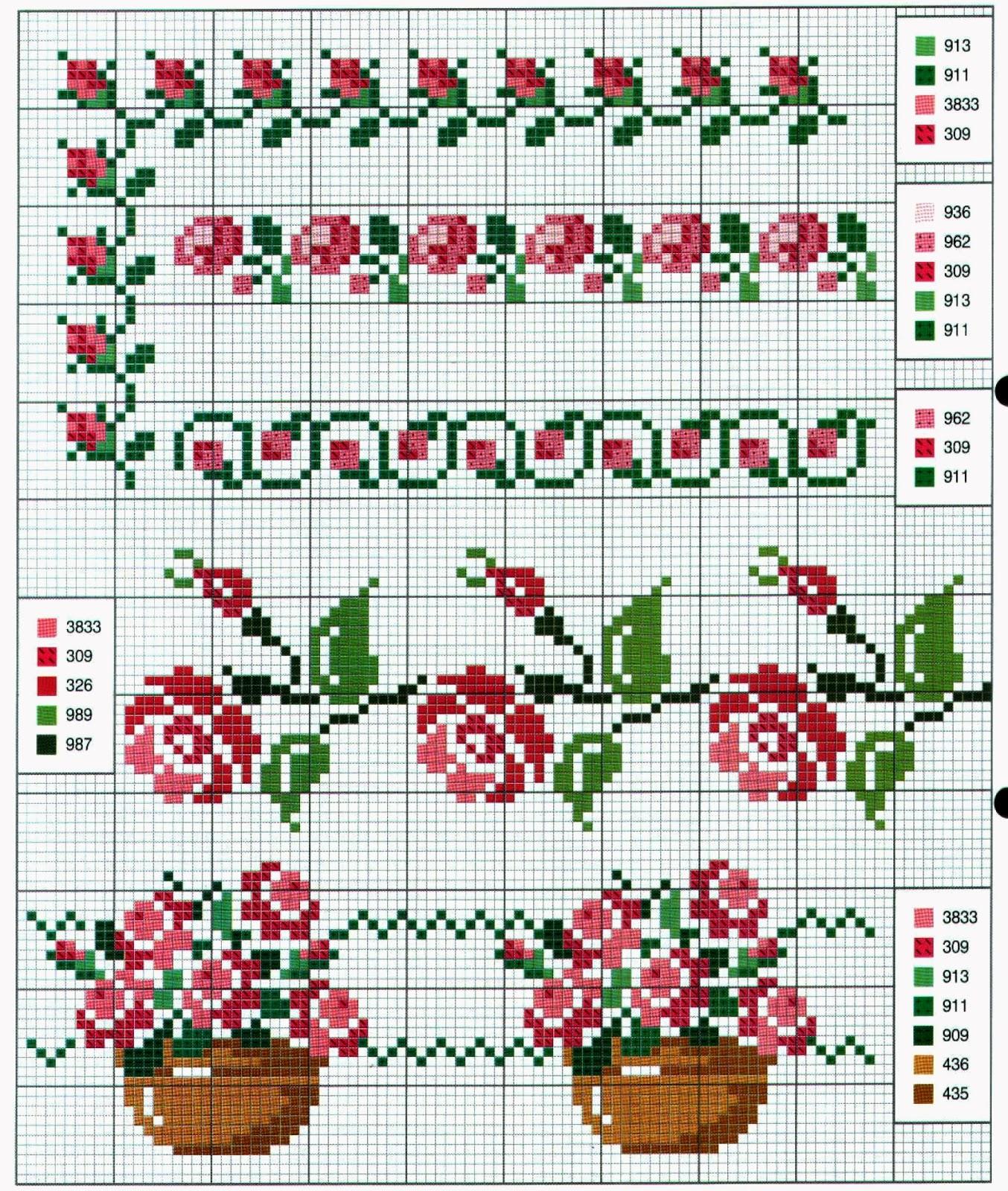 Ricami e schemi a punto croce gratuiti schemi a punto for Piccole farfalle punto croce