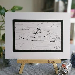 Airmiaws print by Elizabeth Casua, tHE 33ZTH oRDER