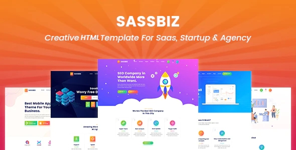 Software, App & Startup Responsive Sass Template
