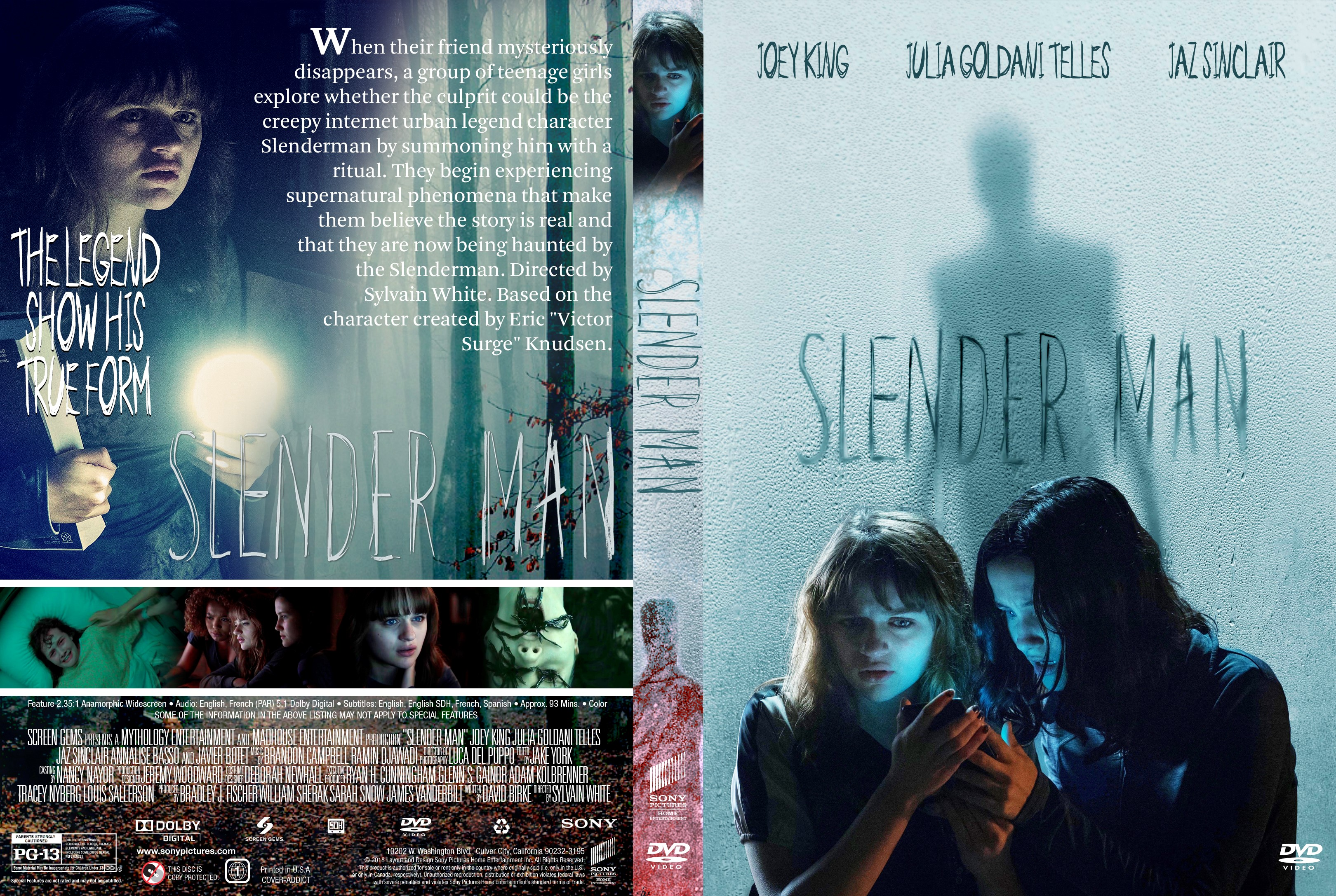 300 Full Movie >> Slender Man DVD Cover - Cover Addict - DVD, Bluray Covers and Movie Posters