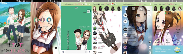 Download Tema Line Anime Kakarai Jouzu no Takagi-san