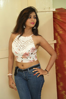 Deekshita Parvathi in a short crop top and Denim Jeans Spicy Pics Beautiful Actress Deekshita Parvathi January 2017 CelebxNext (16).JPG