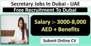 Office Secretary Urgently Hiring For Dubai, UAE