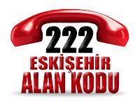 0222 Eskişehir telefon alan kodu
