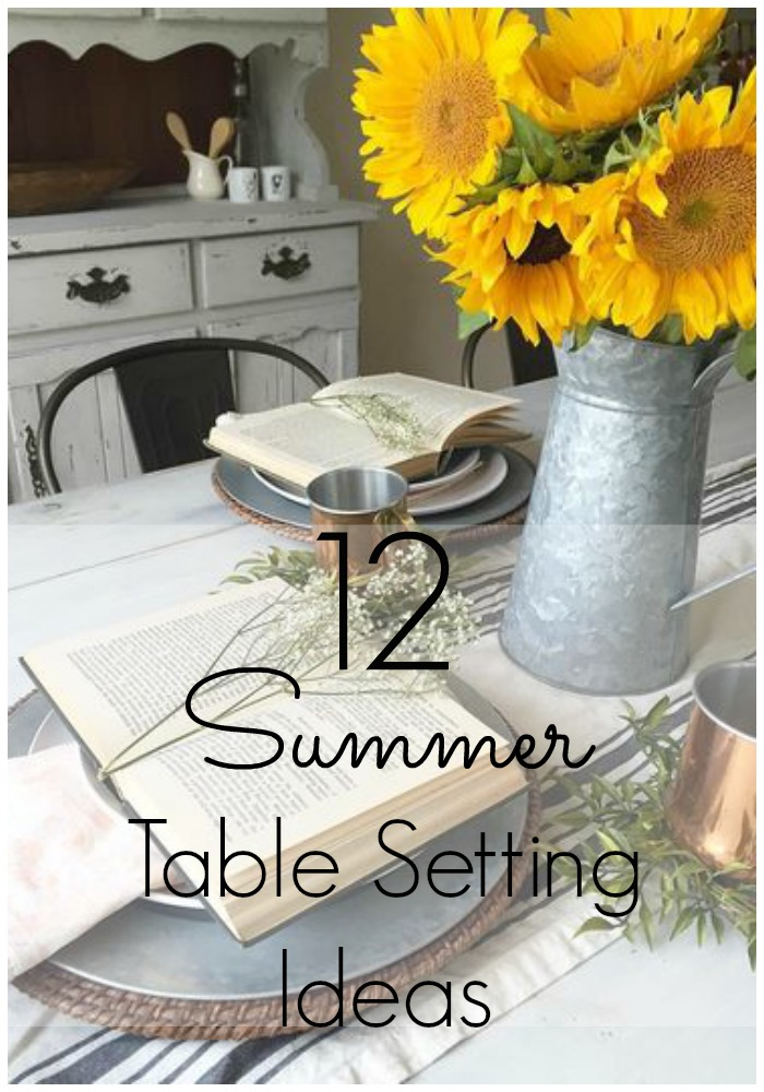12 summer table setting ideas delightfully noted - Summer table setting ideas ...