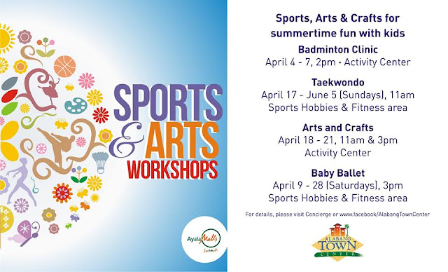 Manila shopper 2016 summer activities workshops summer sports arts worshops at alabang town center sports arts workshops for summertime fun with kids visit atc concierge for inquiries and stopboris Images