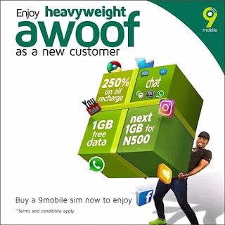 How To Activate and Enjoy Heavyweight Awoof Bonus On 9mobile