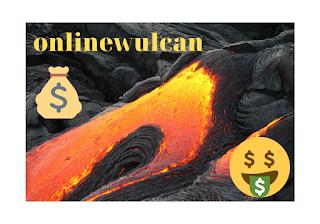 Картинка лавы с призывом играть в Вулкан онлайн