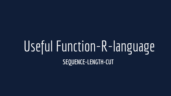 There are useful functions in R