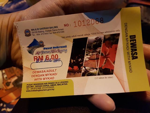 Harga Masuk Pusat Rekreasi Air Panas Ulu Legong (Hot Spring Ulu Lenggong Baling)