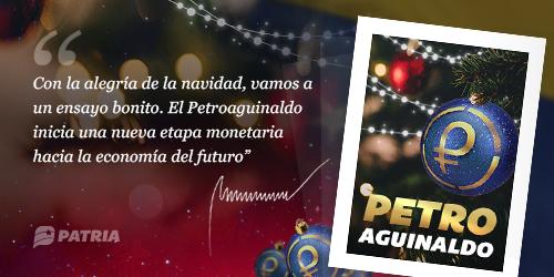 Inicia la entrega del Petroaguinaldo enviado de manera especial por nuestro Presidente Nicolás Maduro para todos los funcionarios públicos y pensionados.
