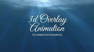 css 3d overlay