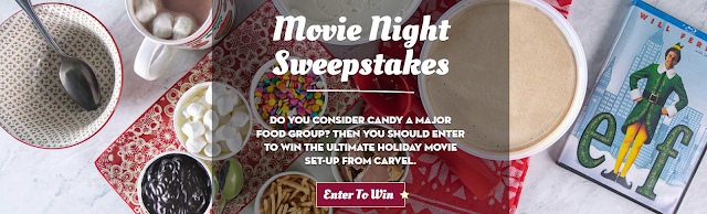 Carvel is giving away a movie night so the winner can watch Elf this Holiday Season on a brand new Philips Smart TV with plenty of yummy ice cream!