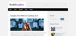 Tech Roadies Free Premium Blogger Template