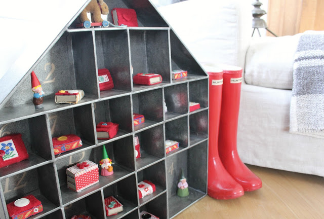 image result for hello lovely studio galvanized advent calendar and red boots