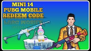 Pubg Mobile Redeem Code Se Mini 14 Pubg Gun Skin कैसे लें