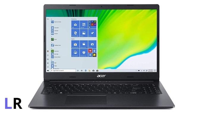 Acer Aspire 3 A315-57G laptop (black colour, plastic body).