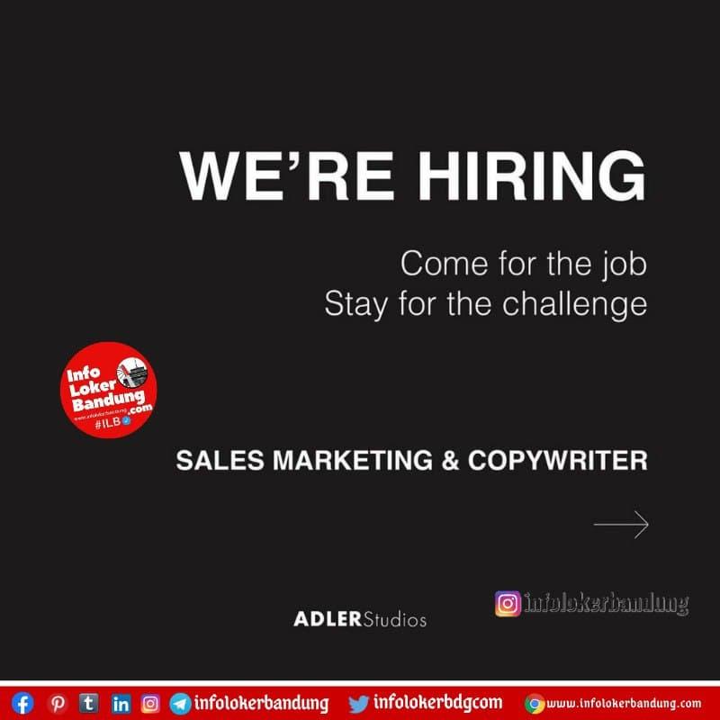 Lowongan Kerja Adler Studio Bandung Januari 2021 - Info ...