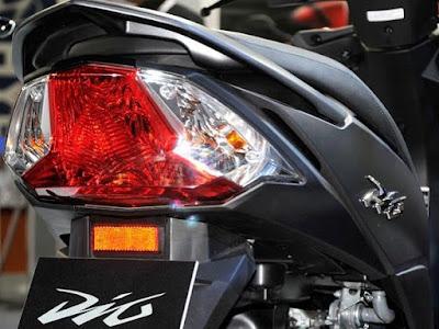 New Honda Dio taillight image