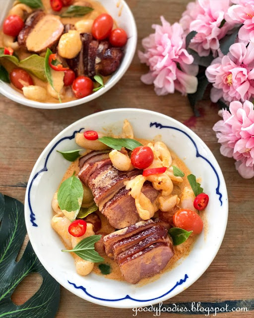 Thai Red Curry with Smoked Duck and Lychee recipe