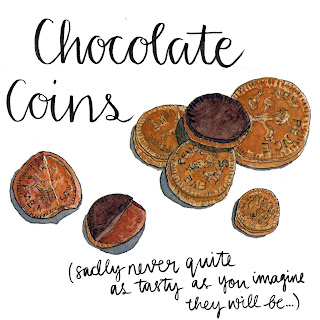 Chocolate Coins by Alice Draws The Line