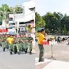 Kasi Ops Bersama Anggota Korem141/Tp Lari Jalan Menepuh Jarak 5 Km