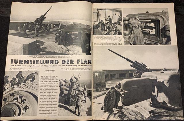 Flak guns shown in the 3 June 1942 Die Wehrmacht magazine worldwartwo.filminspector.com