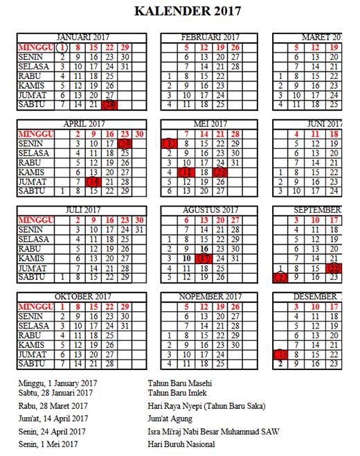 Kalender Pendidikan 2017