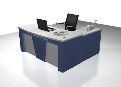 Meja Kantor Ruang Direktur + Furniture Semarang