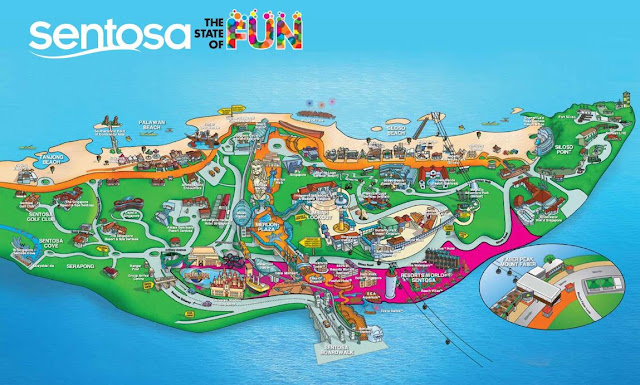 mapa de Sentosa Island