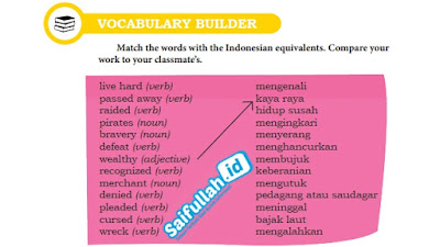 Pembahasan Soal Bahasa Inggris Chapter 13 Hal 171 Vocabulary Builder Kelas 10