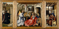 Mérode Altarpiece (1428) by Robert Campin, who is a first great master of Flemish and Early Netherlandish painting.