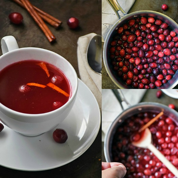 Cranberry Tea | by Life Tastes Good with its deep, ruby red color has a festive feeling perfect for the holiday season! Spiced with cinnamon and cloves, it's as comforting as snuggling under a warm blanket on a cold morning...with puppies! Lots of puppies <smile> #LTGrecipes #RHFood