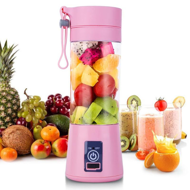 USB Rechargeable Portable Blender Mixer 6 Blades Juicer