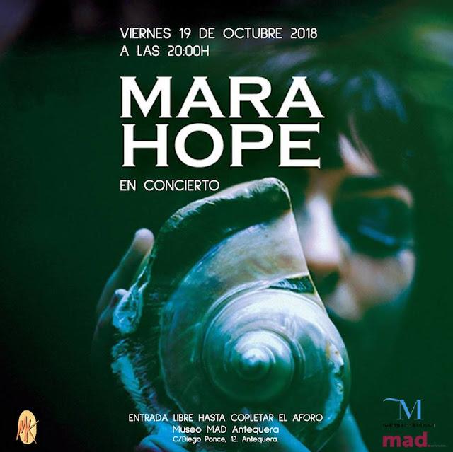 Concierto de Mara Hope en el MAD de Antequera