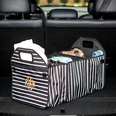 Monogrammed Trunk Organizer from Marleylilly.com