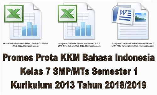 Promes Prota KKM Bahasa Indonesia Kelas 7 SMP/MTs Semester 1 Kurikulum 2013 Tahun 2018/2019