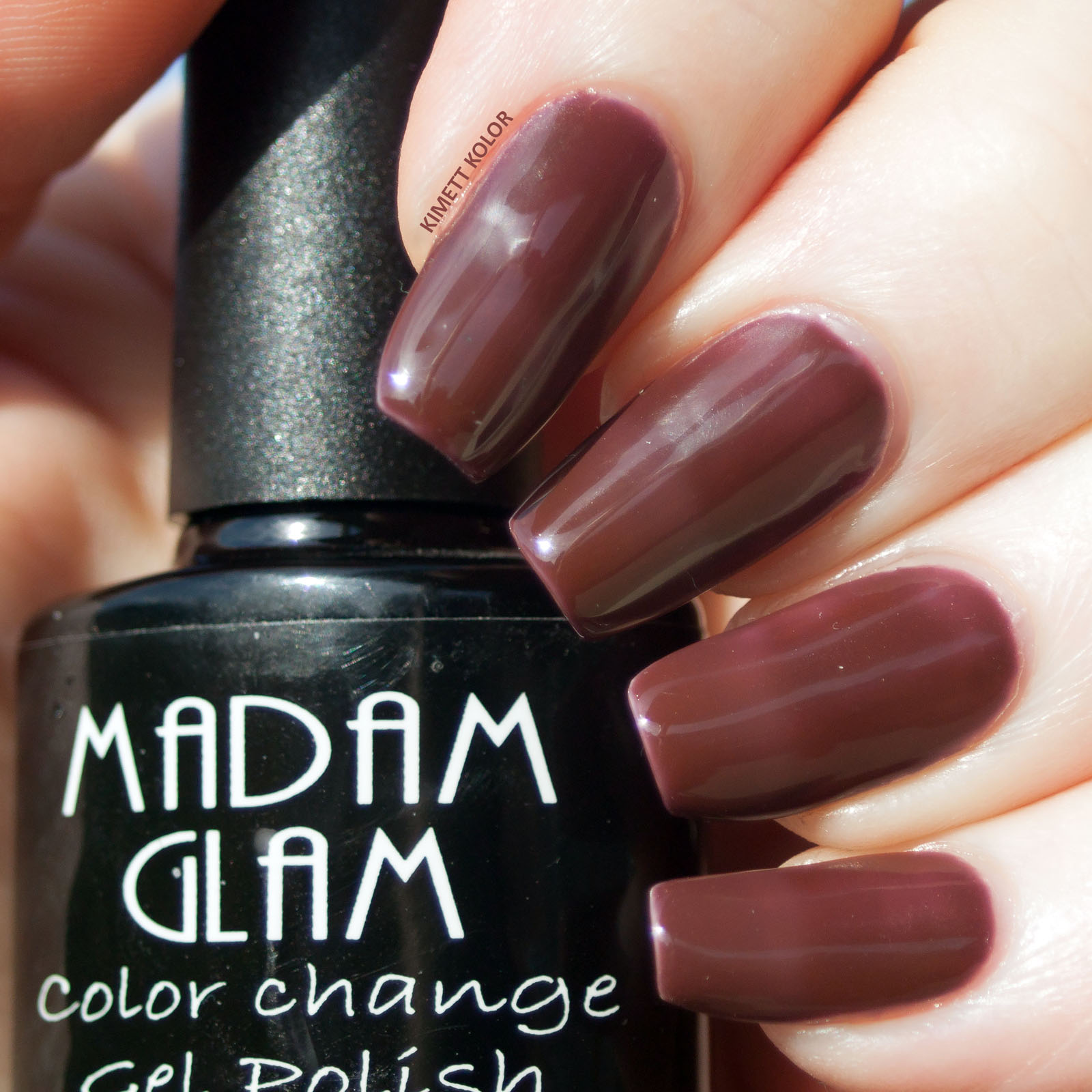 Kimett Kolor Swatch of Madam Glam Lady's First Chameleon Gel