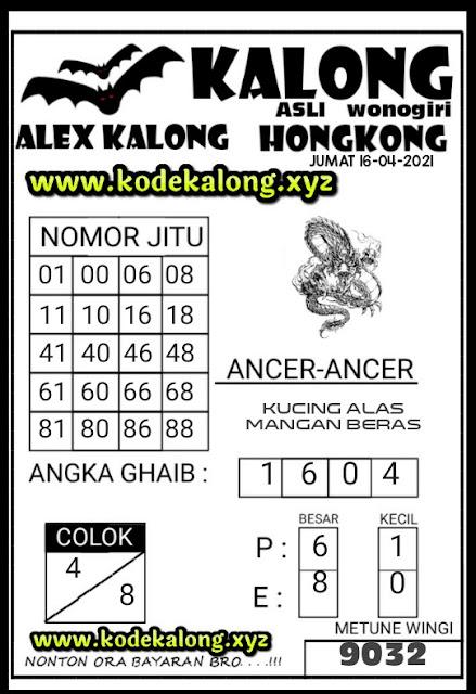 syair kalong hk 16-04-2021