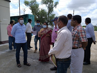 प्रशासनिक नोडल अधिकारी श्री पवन कुमार IAS ने किया L1 कोविड-19 हॉस्पिटल उरई का निरीक्षण