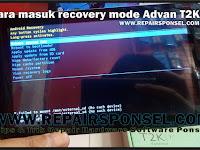 Cara Masuk Android Recovery Advan T2K