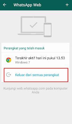 cara logout whatsapp web dari komputer