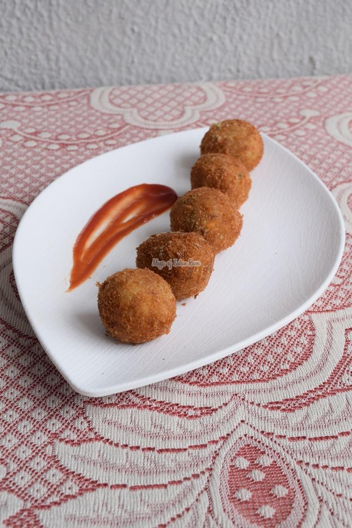 Cheese Corn Potato Balls   Indian Style Cheese Corn Balls Recipe - Magic of Indian Rasoi- Priya R