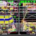 مخطط مشروع قاعة كبيرة بشكل مميز اوتوكاد dwg