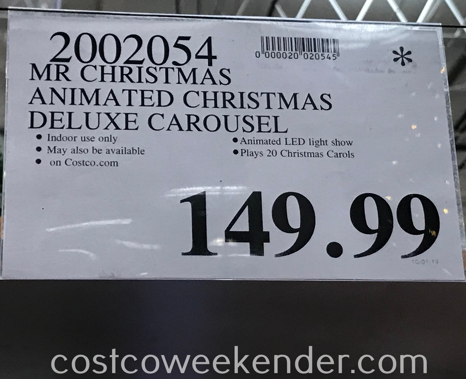 Deal for the Mr. Christmas Deluxe Carousel at Costco